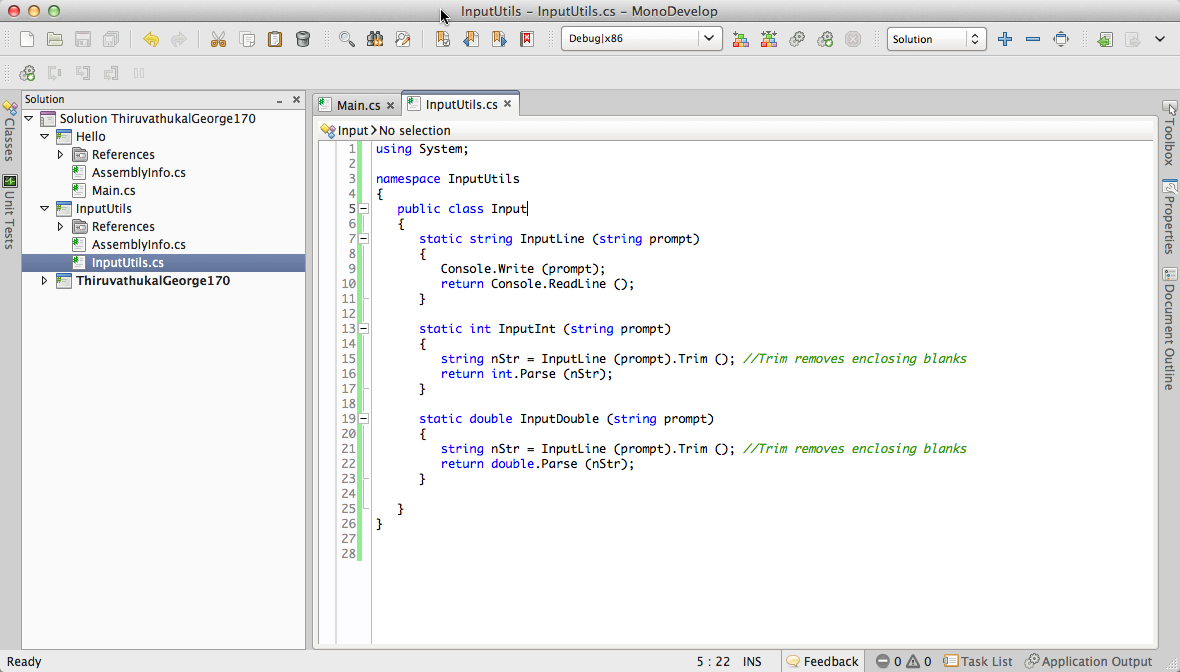6 11  Lab: Using MonoDevelop — Introductory Programming in