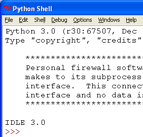 Look At The Python Shell